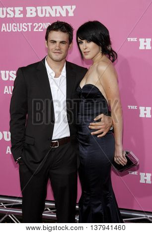 Micah Alberri and Rumer Willis at the Los Angeles premiere of 'The House Bunny' held at the Mann Village Theater in Westwood, USA on August 20, 2008.