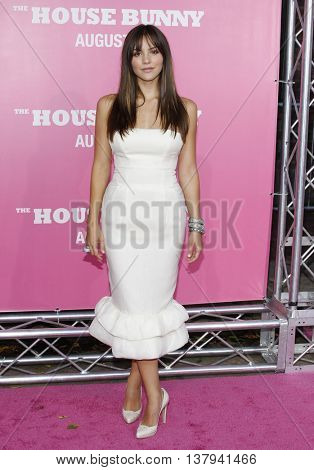 Katharine McPhee at the Los Angeles premiere of 'The House Bunny' held at the Mann Village Theater in Westwood, USA on August 20, 2008.