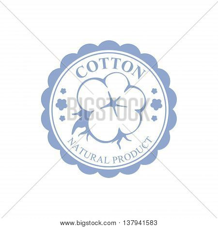 Cotton Blue Product Logo Vector Classic Style Design On White Background