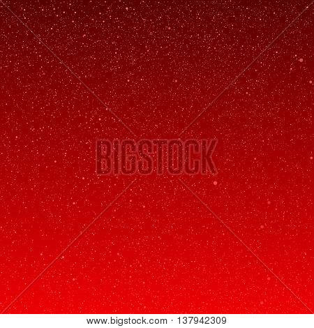 Vector background with snowflakes. Red ice storm.