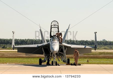 Military Pilots Preparing For Flight