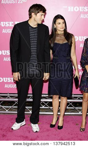 Demi Moore and Ashton Kutcher at the Los Angeles premiere of 'The House Bunny' held at the Mann Village Theater in Westwood, USA on August 20, 2008.