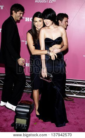 Demi Moore and Rumer Willis at the Los Angeles premiere of 'The House Bunny' held at the Mann Village Theater in Westwood, USA on August 20, 2008.