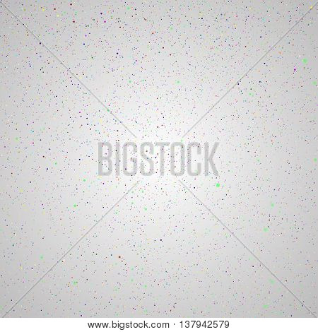 Vector background with snowflakes. Colorful ice storm.