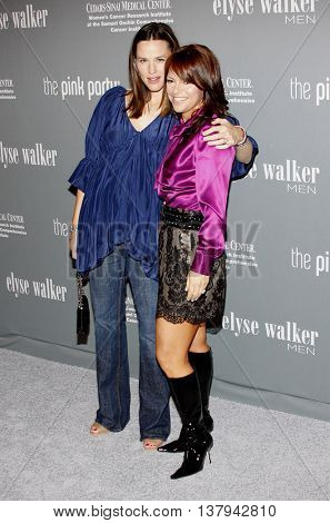 Jennifer Garner and Elyse Walker at the 4th Annual Pink Party held at the Hanger 8 in Santa Monica, USA on September 13, 2008.