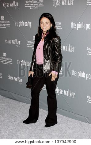 Julia-Louis Dreyfus at the 4th Annual Pink Party held at the Hanger 8 in Santa Monica, USA on September 13, 2008.