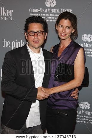 J.J. Abrams and Katie McGrath at the 4th Annual Pink Party held at the Hanger 8 in Santa Monica, USA on September 13, 2008.