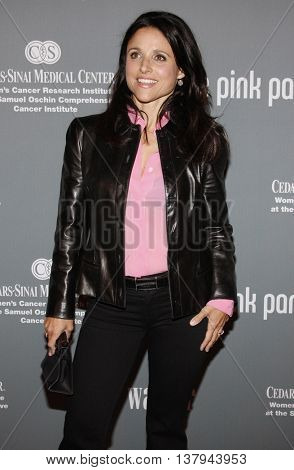 Julia Louis-Dreyfus at the 4th Annual Pink Party held at the Hanger 8 in Santa Monica, USA on September 13, 2008.