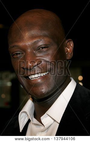 Peter Mensah at the Los Angeles premiere of '300' held at the Grauman's Chinese in Hollywood, USA on March 5, 2007.