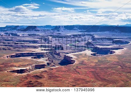 Green River Overlook in Canyonlands National Park in Utah