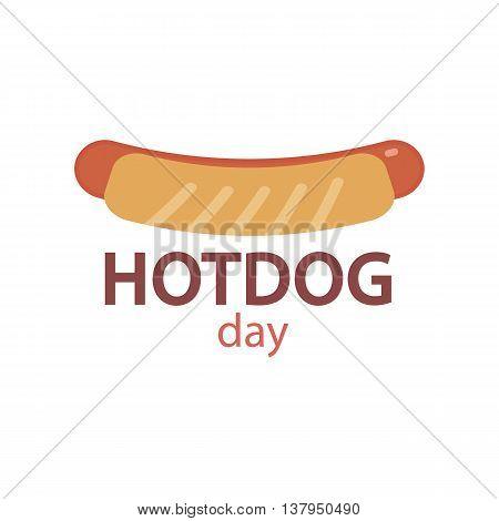 Hotdog icon in flat style vector ilustration
