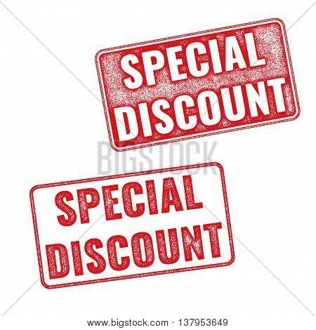 Stamps Special Discount. Vector Textured Imprints