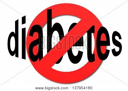 Stop Diabetes Sign In Red