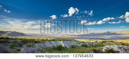 Beautiful landscape in Cappadocia, Turkey