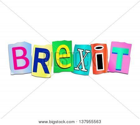 Brexit Word Concept.