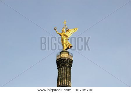 Landmark Siegessäule in Berlin, Germany