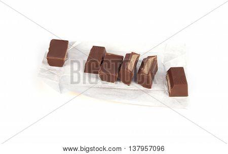 Chocolate Bar On A White