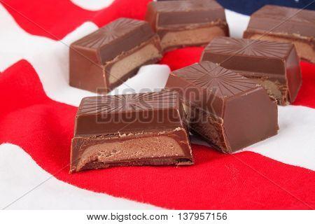 Chocolate Bar Close Up