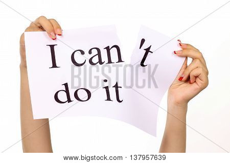 I Can Do It For Yourself Concept Belief, Positive Attitude And Motivation