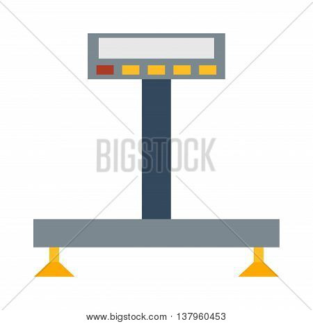Web icon scale, weigh measurement. Isollated scales weighing equilibrium weight balance. Freedom industry scale tool vector instrument. Scale for technology design
