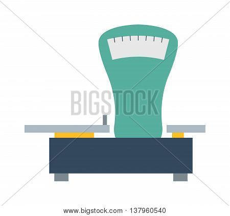 Web icon shop scale, weigh measurement. Isollated scales weighing equilibrium weight balance. Freedom industry scale tool vector instrument. Scale for technology design