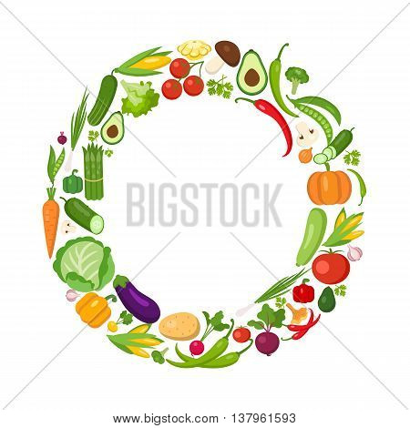 O letter from vegetables. Green alphabet. Fresh green vegetables for healthcare. Healthy diet concept. All vegetables like carrot, onion, tomato, pepper, cucumber, cabbage.