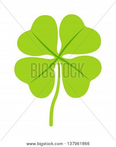 Clover illustration icon. Clover isolated on background. Clover cartoon style modern. Cute Clover isolated