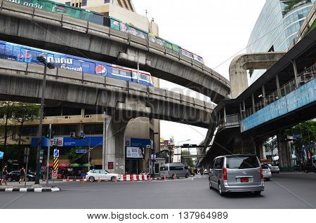 Bts Sky Train In Bangkok