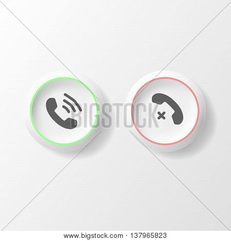Buttons with phone icon style isolated. Telephone symbol for your design, logo, UI. Vector illustration, EPS10.