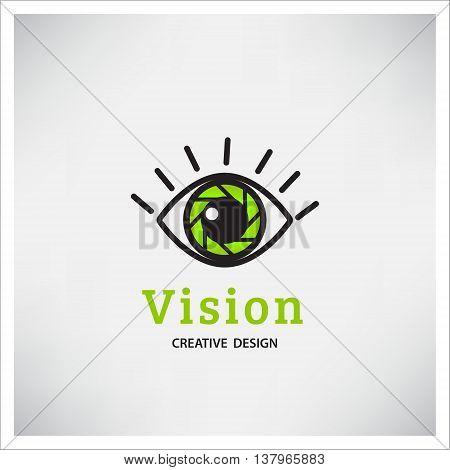 Eye Logo vision vector. Creative Vision Logotype concept. Colorful Eye Logo vision.