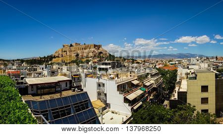 Lovely View Of Athens Acropolis From The Roof, Greece