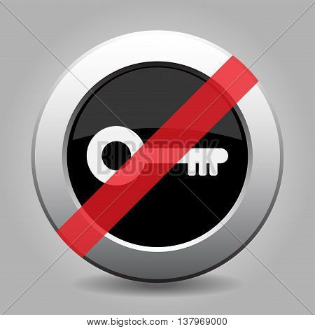 gray chrome button with no key - banned icon