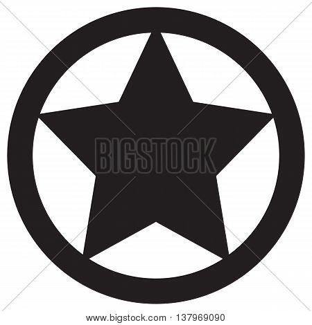Star in circle icon military armed forces