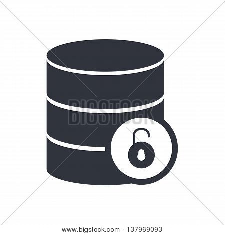 Database Open Icon In Vector Format. Premium Quality Database Open Symbol. Web Graphic Database Open