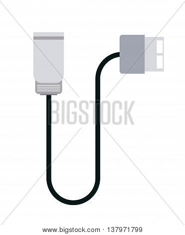 electric charger isolated icon design, vector illustration  graphic