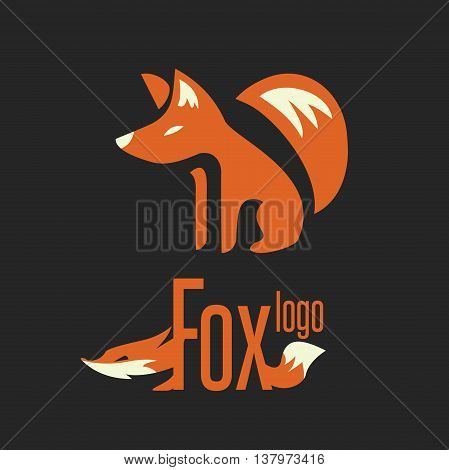fox logo concept designed in a simple way so it can be use for multiple proposes like logo ,marks ,symbols or icons.