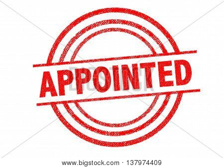 APPOINTED Rubber Stamp over a white background.