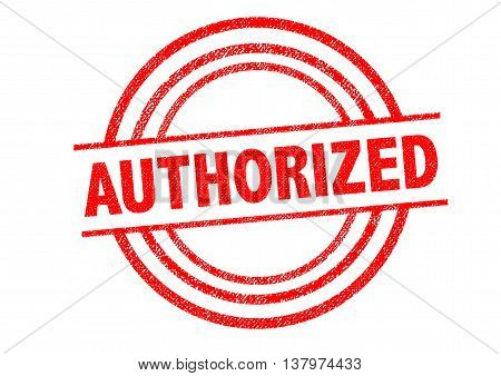 AUTHORIZED Rubber Stamp over a white background.