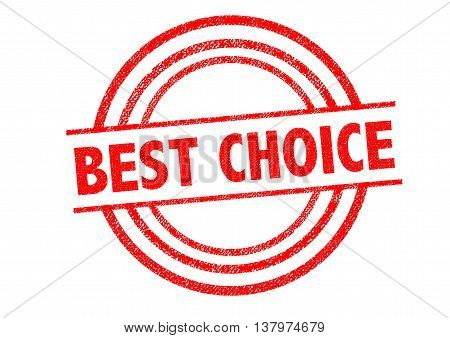 BEST CHOICE Rubber Stamp over a white background.