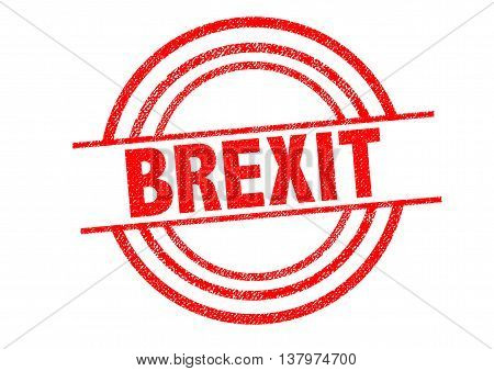 BREXIT Rubber Stamp over a white background.