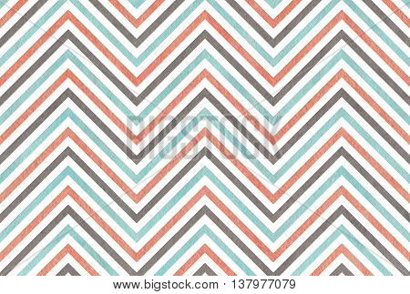 Watercolor Pink, Blue And Grey Stripes Background, Chevron.