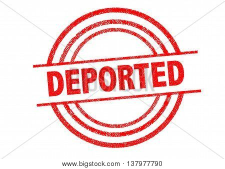 DEPORTED Rubber Stamp over a white background.