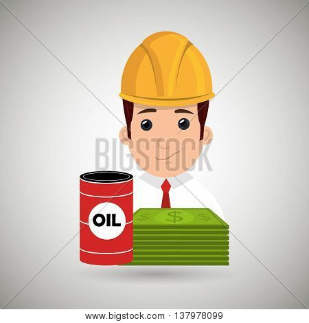 man and oil  isolated icon design, vector illustration  graphic