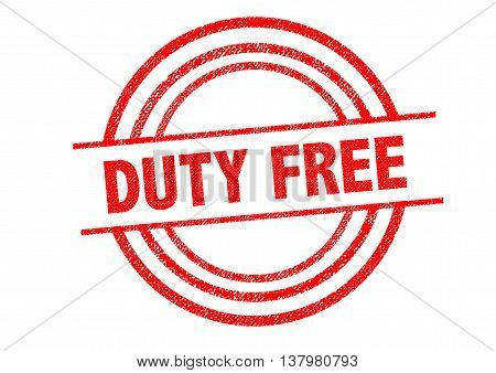 DUTY FREE Rubber Stamp over a white background.