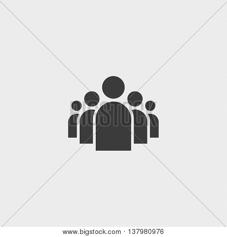 Group icon in a flat design in black color. Vector illustration eps10