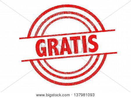 GRATIS Rubber Stamp over a white background.