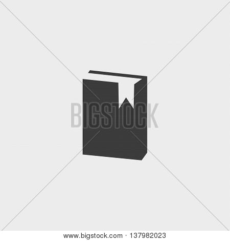 Book icon in a flat design in black color. Vector illustration eps10
