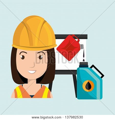 woman with oil isolated icon design, vector illustration  graphic