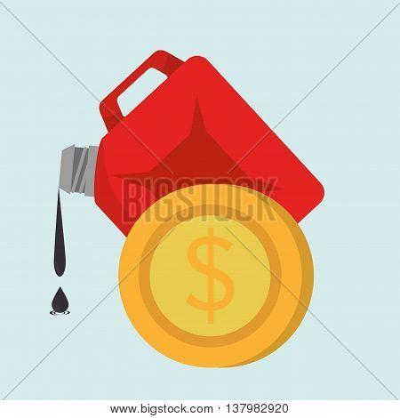 gallon gasoline isolated icon design, vector illustration graphic