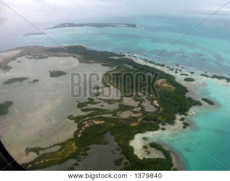 Aerial View Tropical Island
